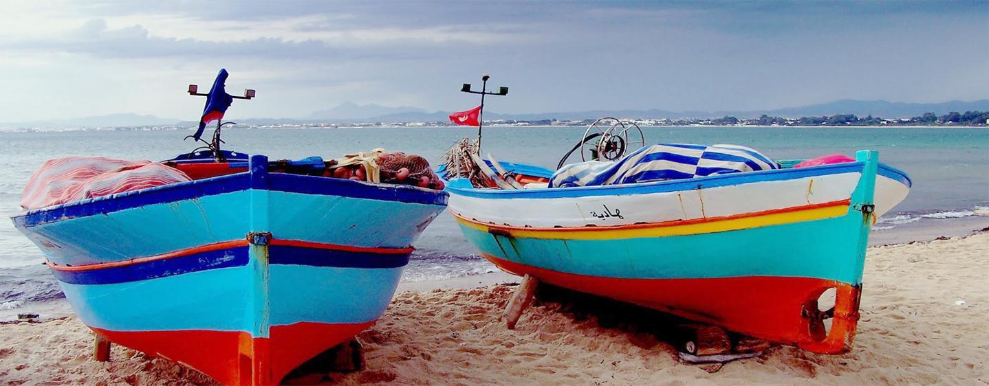 Bateaux de pêche à Hammamet