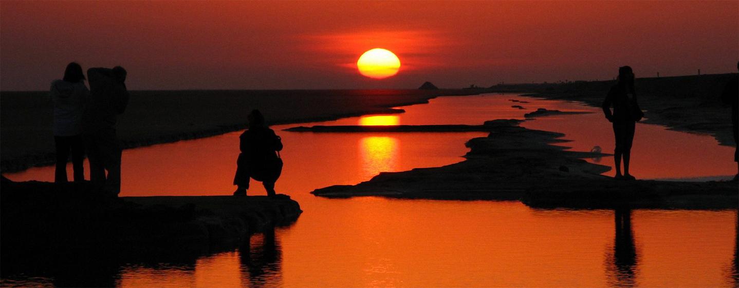 Coucher du soleil en Tunisie