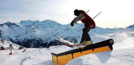 Verbier Snowpark Rails